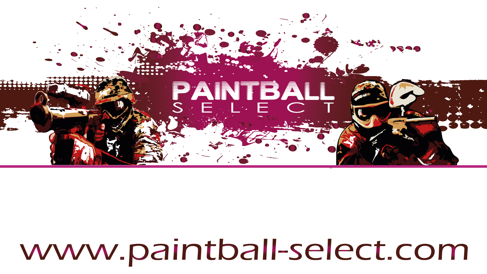 Fond d'écran White Paintball Select