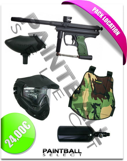 Le pack location du shop Paintball Select 91
